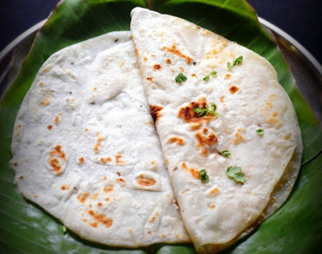 Bili Holige or Stuffed rice flour Paratha