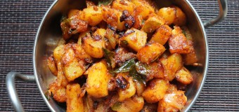 Simple Potato roast or Ennai Urulai Kizhangu Varuval recipe