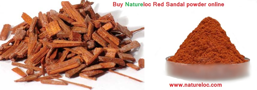 natureloc red sandal powder and pieces
