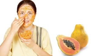 Papaya face mask for wrinkles