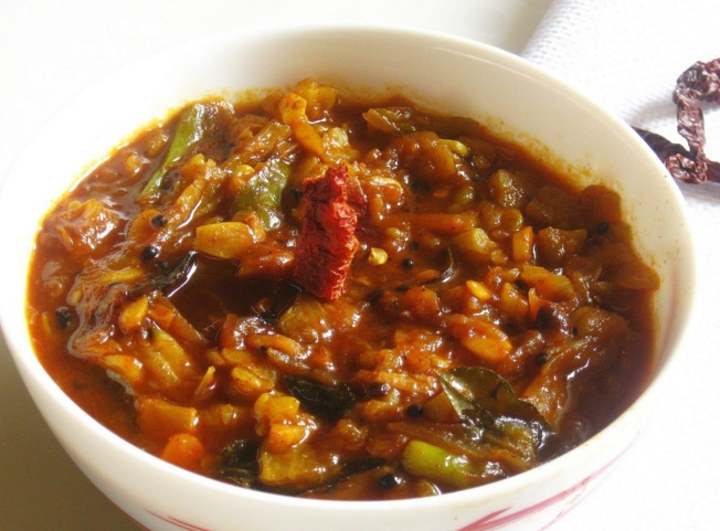 Pavakka Pulicurry, Kaypakka curry, Bitter gourd and tamarind dish