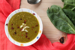 Spinach soup recipes - Vitamin rich pureed vegetables soup natureloc