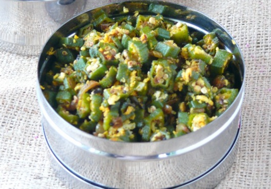 Vendakkai Poriyal, Ladies finger recipe