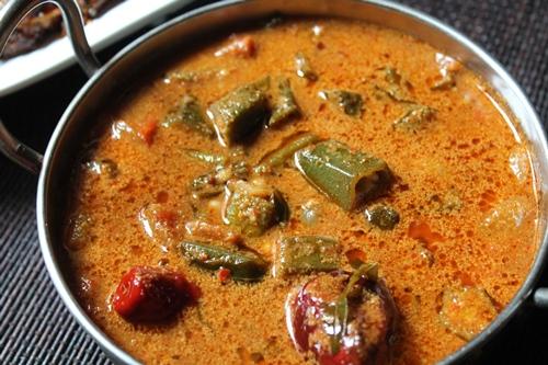 Vendakkai Puli Kuzhambu, Ladies Finger recipe with Tamarind pulp - Healthyliving Natureloc