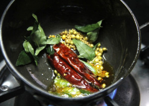tempering in keralal cooking