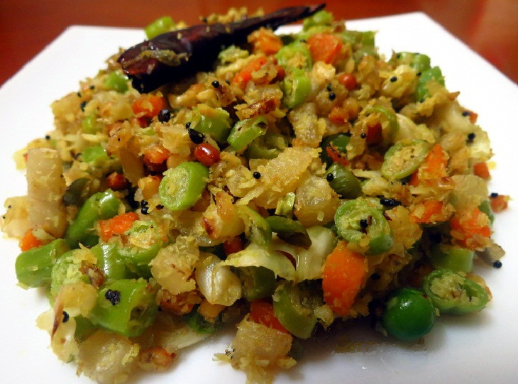 Mixed Vegetable Poriyal - Cooking recipes- Healthyliving- Natureloc