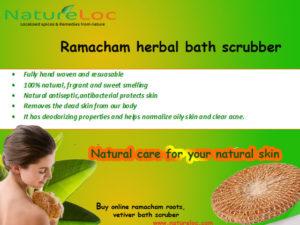 Ramacham scrubber vetiver buy online natureloc