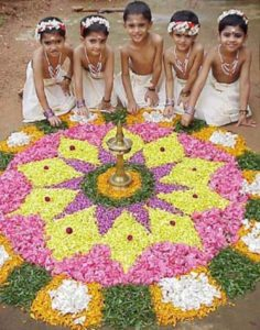 Kids-Making-Onam-Pookalam natureloc