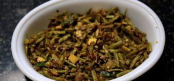 Pacha Payar or Achinga Payar Mezhukkupuratti, Long Beans Stir Fry