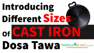 Cast Iron Dosa Tawa 10 IN to 14IN
