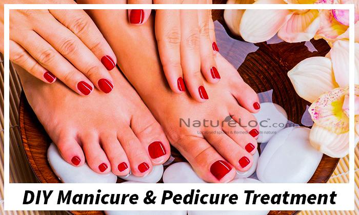 DIY Manicure And Pedicure Treatment